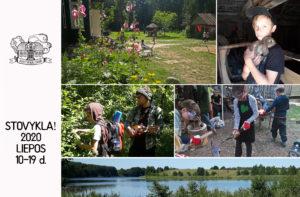 Vaikų vasaros stovykla Juodenėnuose 2020